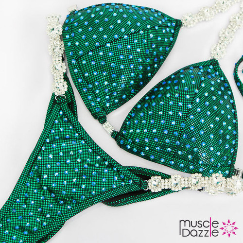 Ready Made Affordable green competition bikini (CB569RM)