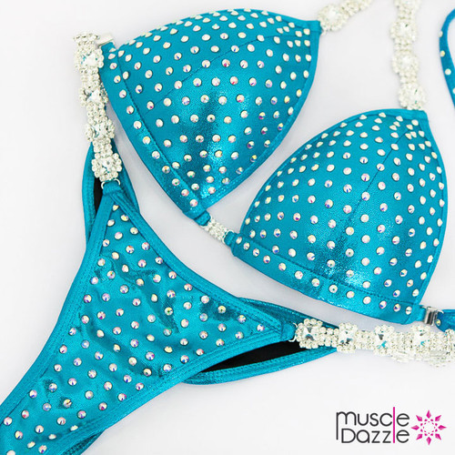 Ready Made Affordable aqua competition bikini (CB568RM)