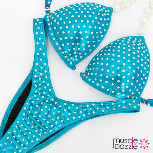 Ready Made Affordable aqua figure competition suit (FS532RM)