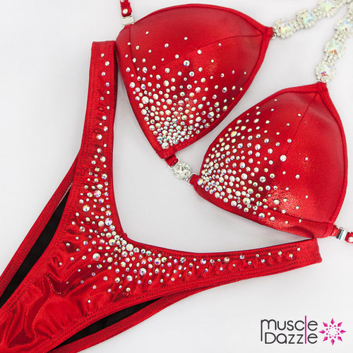 Ready Made Affordable red figure competition suit (FS539RM)