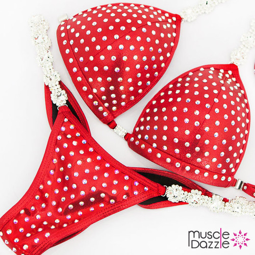 Ready Made Affordable red competition bikini (CB551RM)