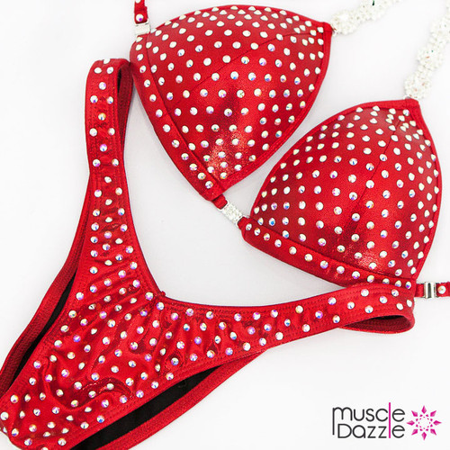 Ready Made Affordable red figure competition suit (FS531RM)