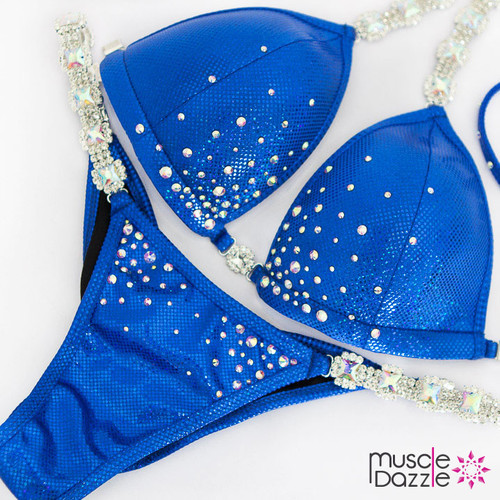 Ready Made Affordable blue competition bikini (CB549RM)