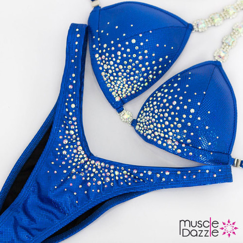 Ready Made Affordable blue figure competition suit (FS538RM)