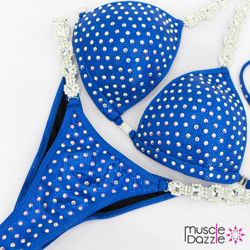 Ready Made Affordable royal blue competition bikini (CB567RM)
