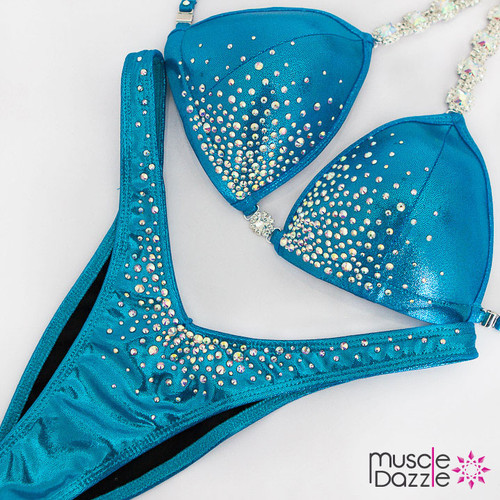 Ready Made Affordable blue figure competition suit (FS540RM)