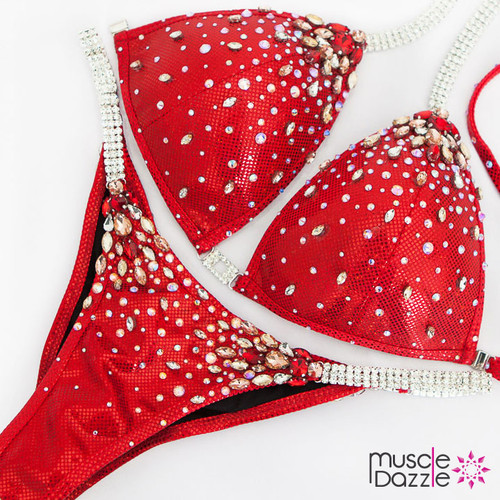 Ready Made Red bikini competition suit (CB599RM)