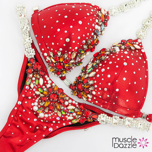 Ready Made Red competition bikini (CB589RM)