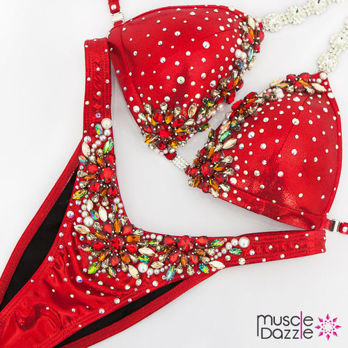 Ready Made Red figure competition suit (FS477RM)