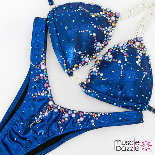 Ready Made Royal blue figure competition suit (FS488RM)