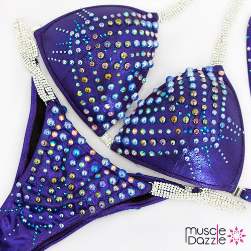Ready Made Dark purple competition bikini (CB602RM)