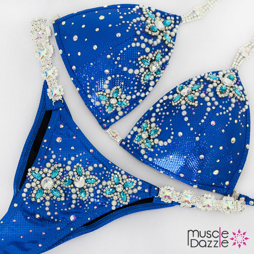 Ready Made Blue competition bikini (CB614RM)