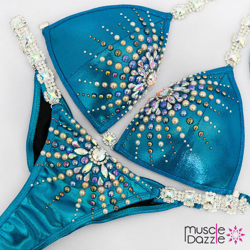 Ready Made Blue competition bikini suit (CB612RM)