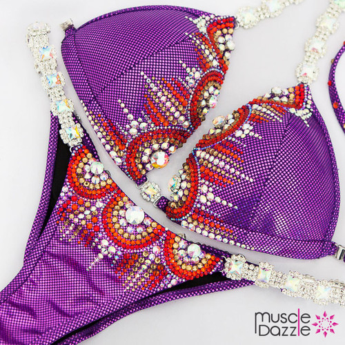 Ready Made Purple competition bikini suit (CB605RM)