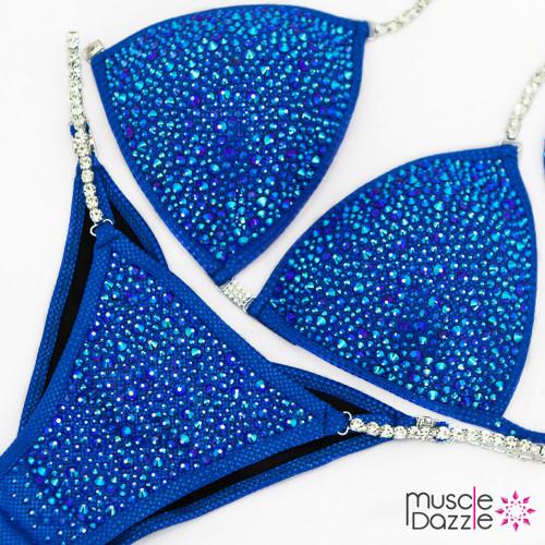 Royal Blue Swarovski Competition Bikini (CB087SW)