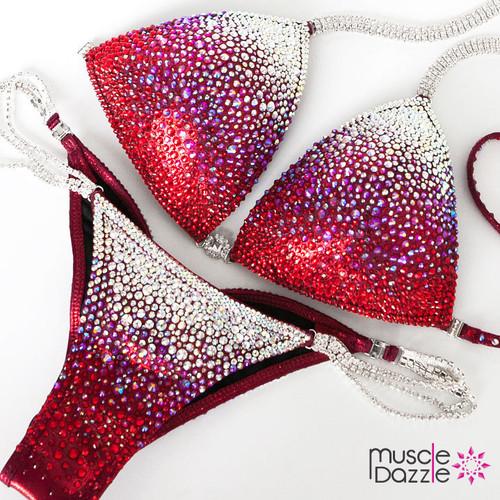 Swarovski Red Ombre Crystal Competition Bikini (CB132SW)
