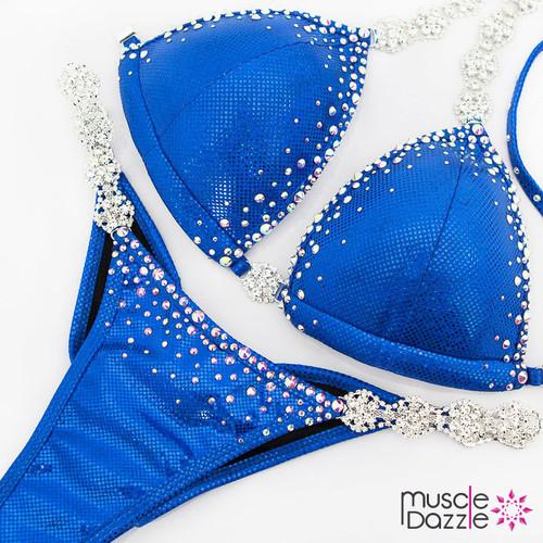 Affordable Royal Blue Swarovski Competition Bikini (CB576SW)