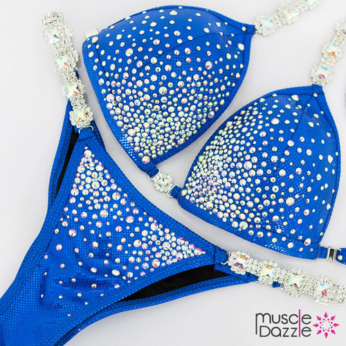 Ready Made Affordable Blue Crystal Competition Bikini (CB573RM)