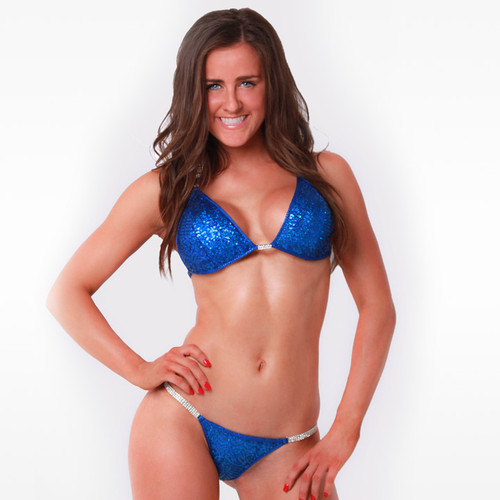 Royal Blue Hologram Sequin Competition Bikini (SQ17)