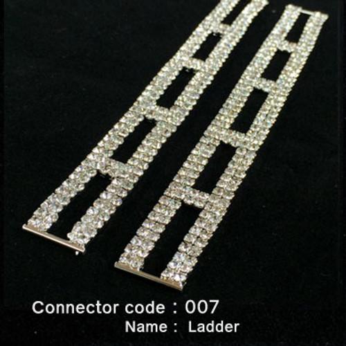 Set of 2 x Rhinestone Bikini Connectors - Ladder Style (007)