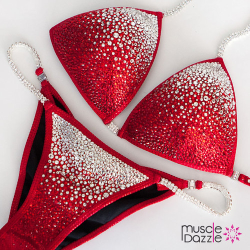 Red Crystal Competition Bikini (CB043)
