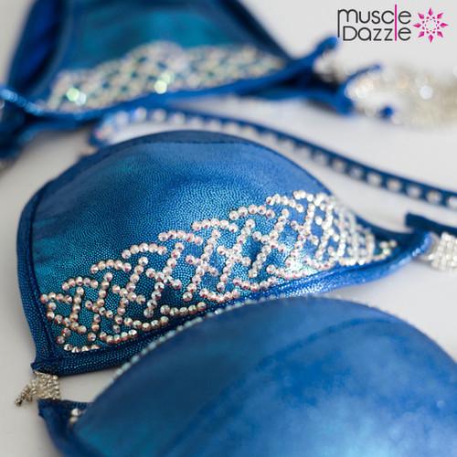 Blue Crystal Competition Bikini (CB134)