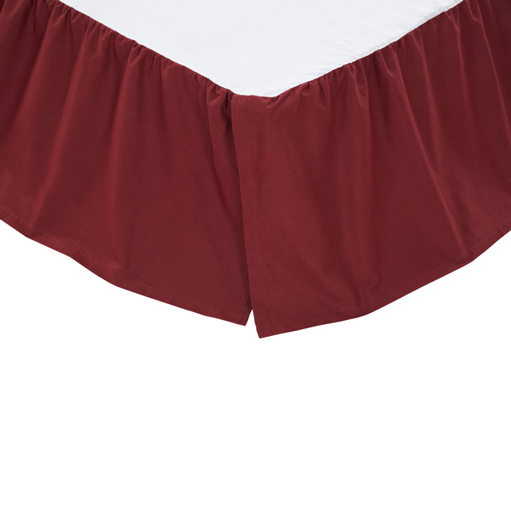 Solid Burgundy Bed Skirt
