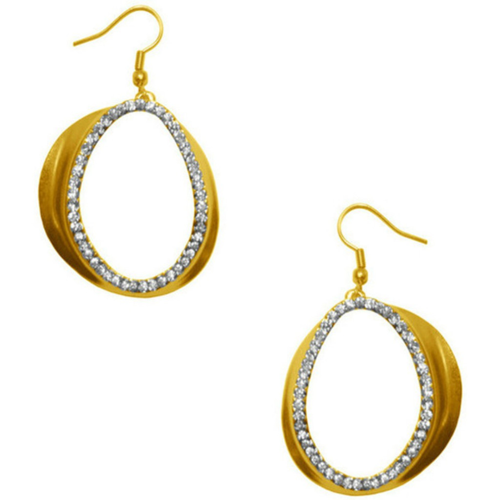 earrings earings vermeil double laurette wth oval shop gold