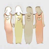 Four Sisters Pin Fashion Jewelry