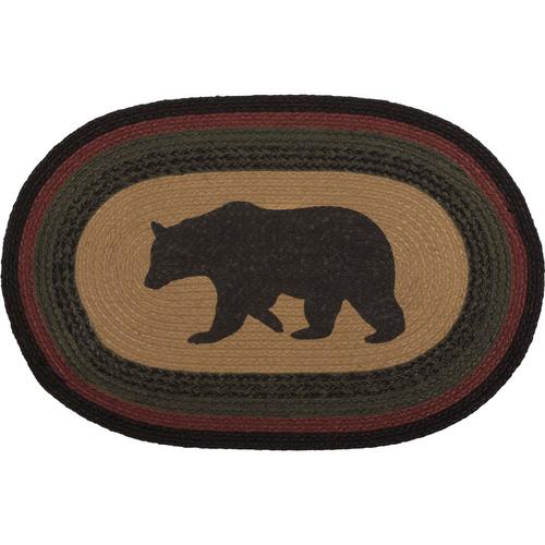 Wyatt Bear Jute Oval Rug