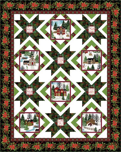Christmas Village Quilt #1