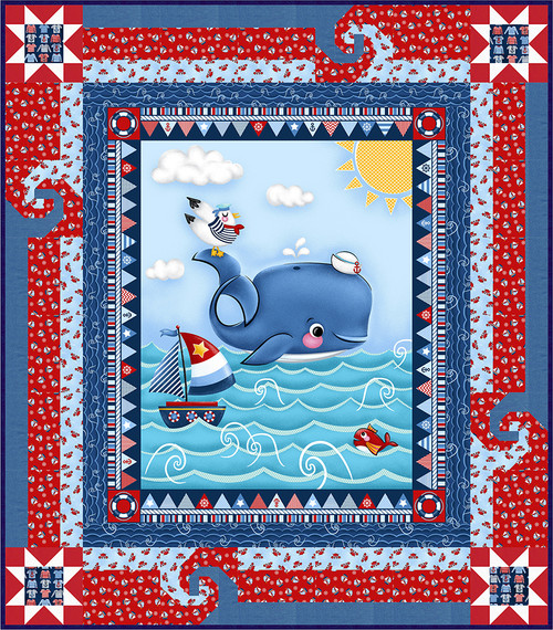 A Whale of a Time Quilt #1