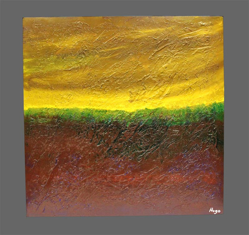 """Terra"" ● Acrylic Painting ● 22""x22""x2"""