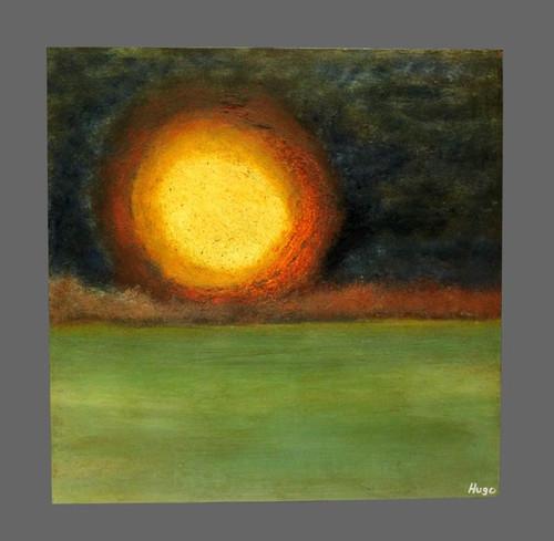 """Prosperous Dawn"" ● Acrylic Painting ● 18""x18""x3/4"""