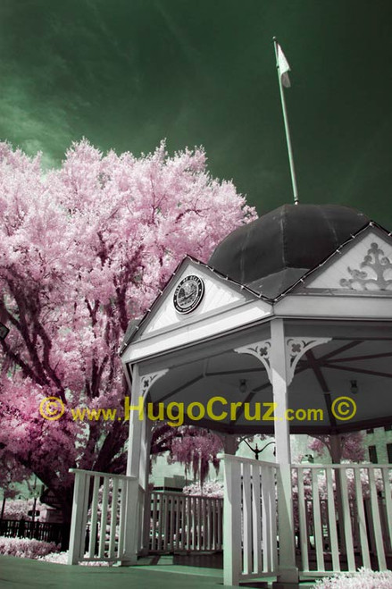 """Courthouse Square Gazebo"" ● Infrared Photography"