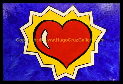 """BIG LOVE!"" ● Acrylic Painting ● 36""x24""x1.5"""