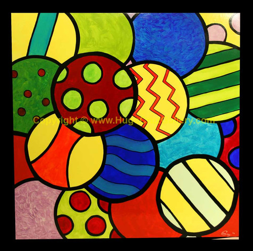 """Gumballs"" ● Acrylic Painting ● [SOLD]"