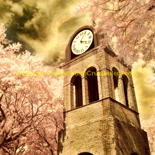 """""""The Clock Tower"""" (square) ● Infrared Photography"""