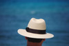 Down Brim Trilby Panama Hat - OPORTO - Cuenca 3/5 Chocolate band