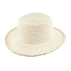 Ladies Crochet Panama - shown with no horsehair band