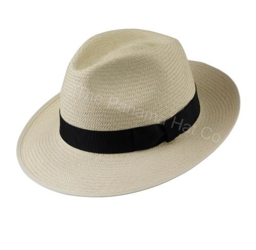 Snap Brim Trilby panama hat - Cuenca 3/5 / Black band