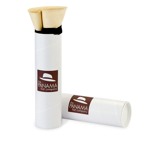 White Panama Hat Tube for Folding Panamas (hat not included)