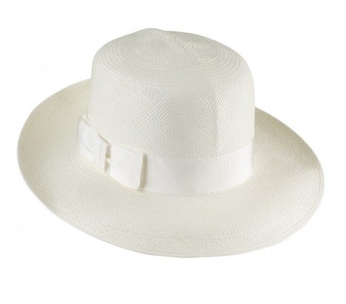 Ladies Brisa Folding Panama Hat  - shown in cream