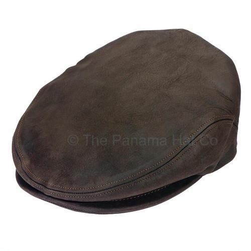 Italian Leather cap- shown in Chocolate brown