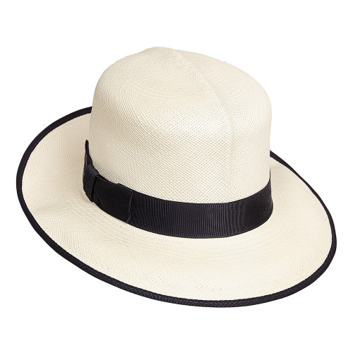 Ladies Folding Panama Hat - trimmed