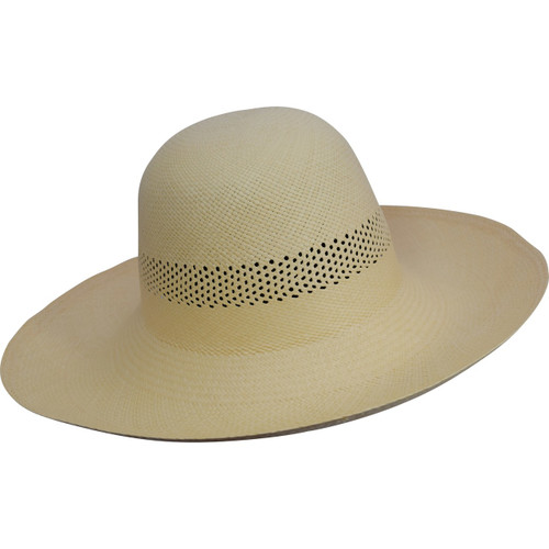 Ladies Open Band Capeline Panama,  in warm almond