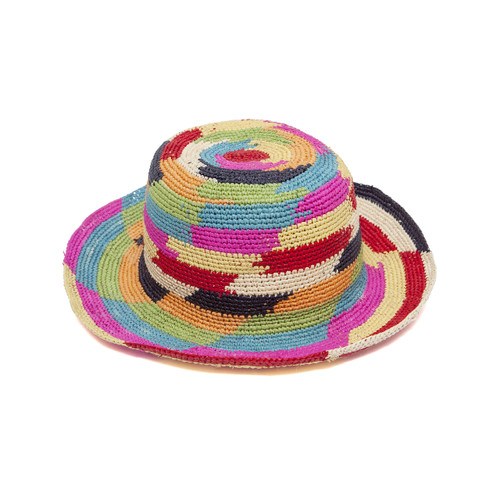 Ladies Colourful Crochet Panama