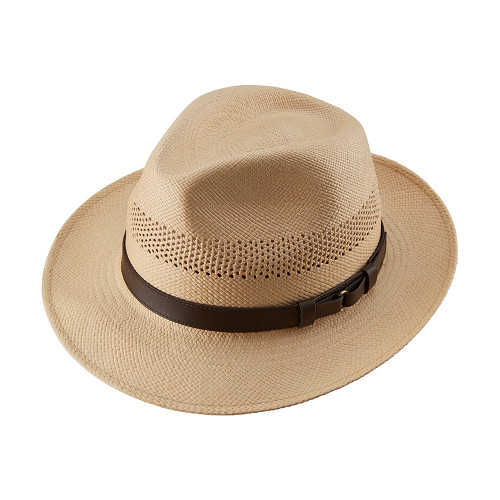 Open Crown Snap Trilby Panama