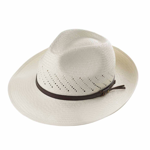 Open Vented Trilby Panama - shown in Ivory
