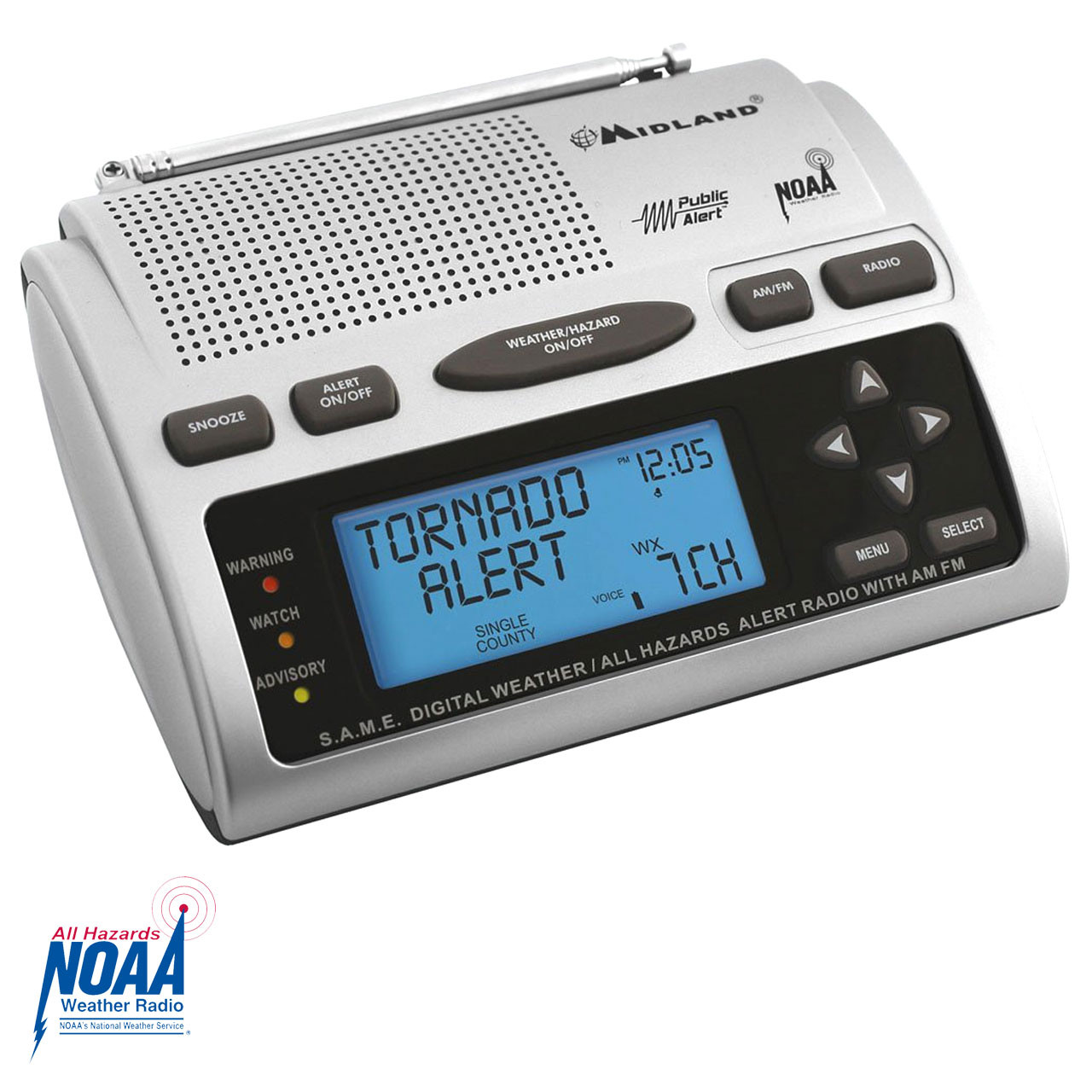 How to set midland wr300 weather alert radio youtube.
